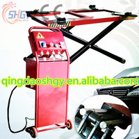Mobile typical scissor car lift , Cheapest movable scissor car lift with CE , 2.7 Ton portable scissor car lift manufacturer