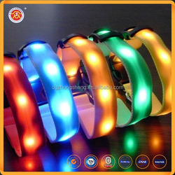 2016 hot selling pet products fashion christmas flashing Led dog collar wholesale