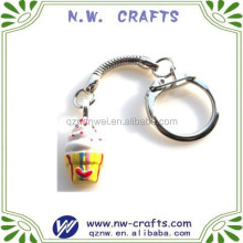 Mini polyresin cup cake promotional key chains