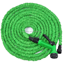 Expandable Garden Hose with Brass Fitting Pattern Spray Nozzle