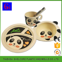 New material disposable bamboo fiber kids dinnerware sets