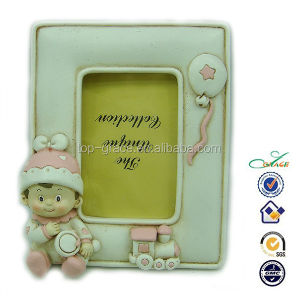 new born baby shower souvenir poly resin photo frame
