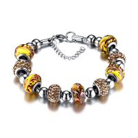 Stainless steel snake chain with bohemian beads charms bracelets and necklaces bohemian jewelry