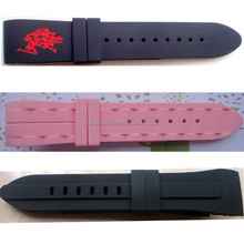 China supplier curve end high-quality custom silicone rubber watch band rubber strap for watch