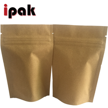 50g custom stand up foil brown kraft paper zip lock tea bag