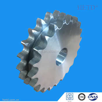 HETD Duplex Row Roller Chain Sprocket Zn-plated ISO Standard