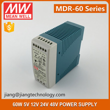 Mean Well 60W 12V 5A Class I Single Output Din Rail Power Supply MDR-60-5