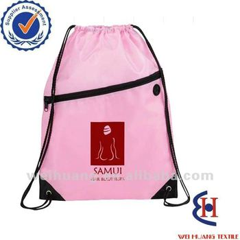 drawstring backpack gym bag
