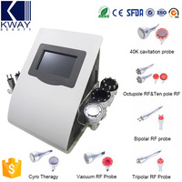 Multifunction 7 in 1 40K cavitation ultrasonic rf radio frequency aesthetic vacuum massage body shaping machine