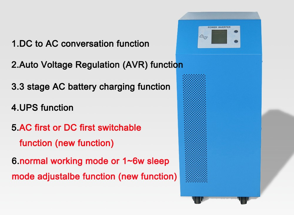 multifunctional solar system home frequency converter, power inverter 2000w