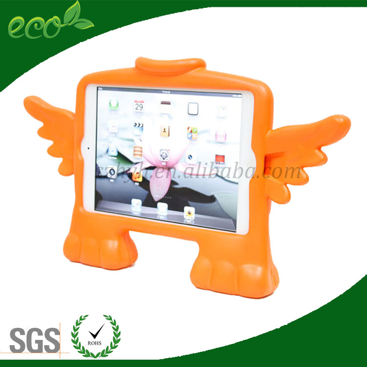 child proof kids bumper angel shape rubber tablet case EVA foam tablet pc cover for ipad mini