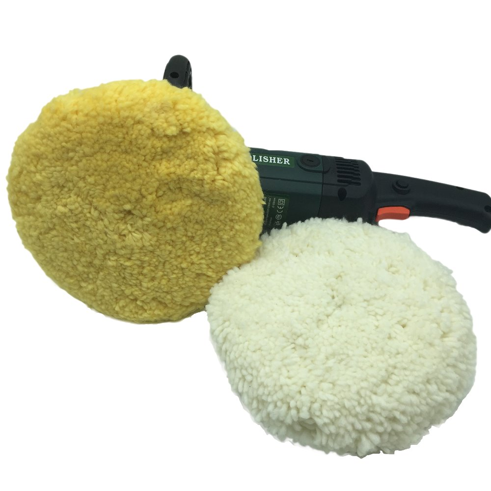7 Inch Pure Wool Bonnet Pad Polishing Car Wax