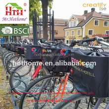 Wholesale Custom 190T Coating PU Waterproof Bike Basket Cover with Reflective Strap