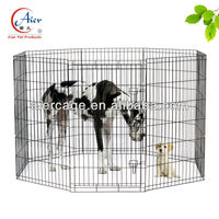 large metal outdoor dog fence