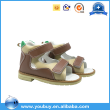 Boutique toddler summer running shoes,bespoke brand name import kids leather sandal shoes for north america