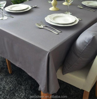 New Europe style grey table cloth dustproof Rectangular tablecloths for kitchen wedding home use