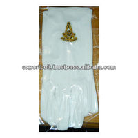 Freemasons Masonic Gloves in Cotton | Embroidered Masonic Gloves | Cotton Gloves