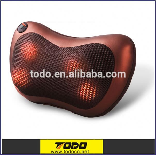 2016 New Health Care Product ES-108 Rest Massage Pillow 7*2 Massage Head Smart 3D Shiatsu Pillow Massager With Heat
