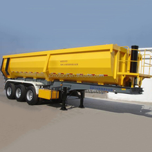 Low price U shape 3 axles cargo truck trailer dump tipping semi trailer for sale