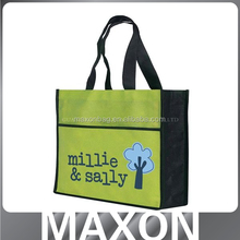 2016 best selling recyclable Eco friendly handle or die cut shopping gift non woven tote bag
