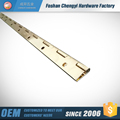 mirror polishing brass continuous piano hinge for cabinet