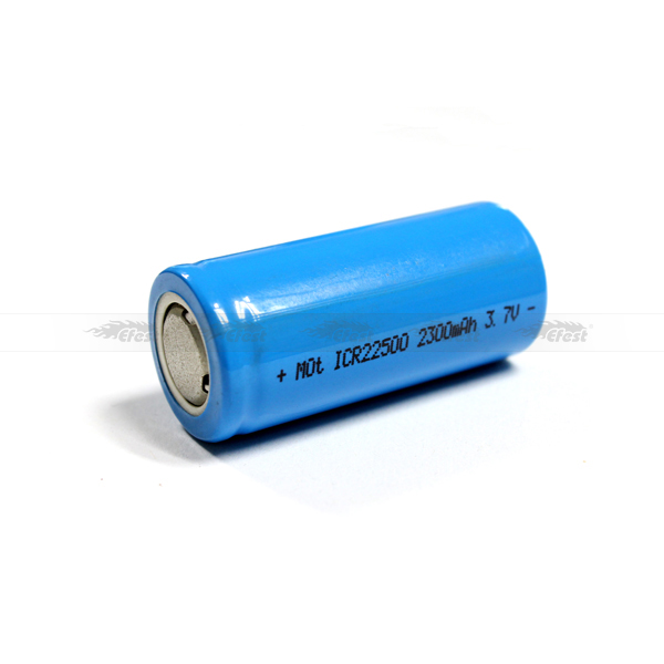 ICR 22500 2300mAh 3.7V li-ion rechargeable battery