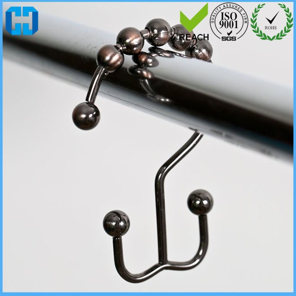 Hot Sale 12pcs Bath Rollerball Shower Curtain Hooks Glide Rings