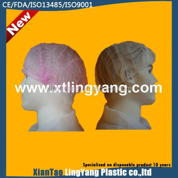 New Disposable Nonwoven Hospital Bouffant Cap Nurse Cap,Bouffant Hairnet