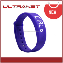 New fashion 3d pedometer fitness watch Sport silicone Rubber wrist watches men