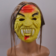 Halloween latex old man mask with wig FGM-0208