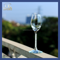 Short colored lead free clear crystal white wine glass with famous brand
