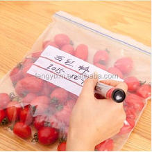 Transparent snack packaging plastic resealable food bag