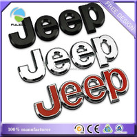 Glossy Luxury Jeep Car Emblem