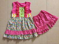 boutique Spring & Summer persnickety girls outfits wholesale children's boutique clothing kids clothes ruffle short sets