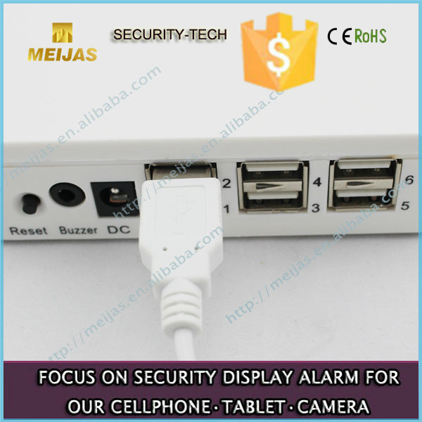 Charging and alarm cellphone 4 ports controller
