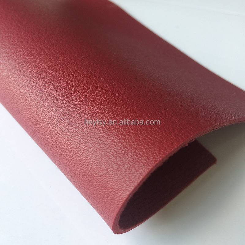 Red color PVC PU shoe upper leather, lining leather for making shoes