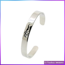 New Bangle Laser Cutting Stainless Steel Bracelet In C Cuff Style