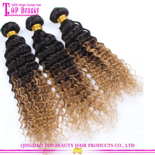 2016 Fashion honey blonde brazilian curly hair weave wholesale cheap different types of curly weave hair
