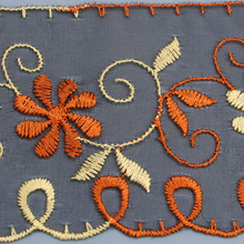 Hand Embroidery Patch Flower Designs For Suit