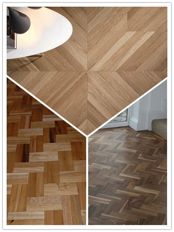 UV lacquered Different Color Engineered Chevron and Herringbone Parquet floor