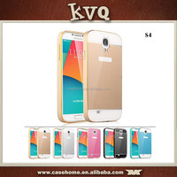New Arrival !!! 2 in 1 Metal Frame Cover Aluminum Bumper Acrylic Cover For smasung s4 metal case