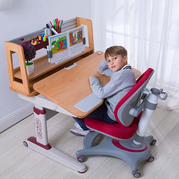 GMYD Newest bedroom study room height adjustable kids table and chair set