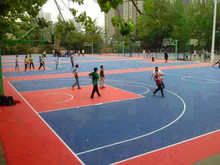 PP suspended interlocking sports flooring for basketball