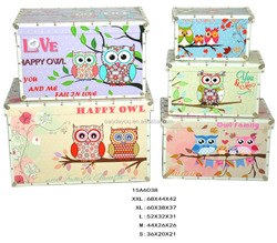 Chinese handmade good sale luxury trunk box sets with owl pattern
