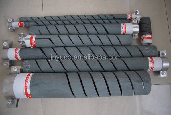 Three-phase W-shape electric tubular heater silicon carbide heating elements