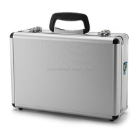 High Quality Alloy Transmitter Case Foam Lined with cut-outs Case Made for Transmitter Silver Aluminum Case