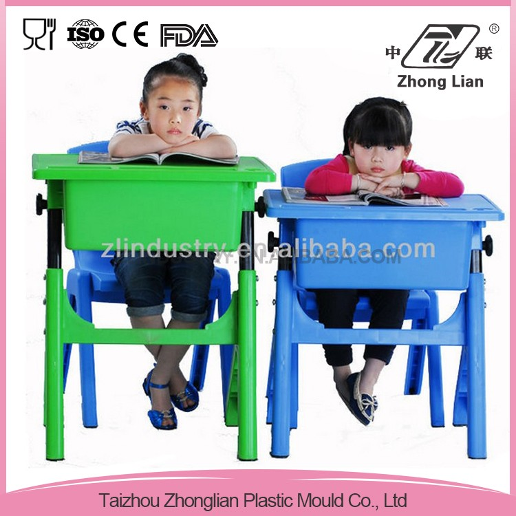 China made plastic stable cheap nursery school furniture adjustable