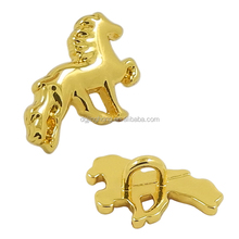 Custom Gold Horse Metal Button