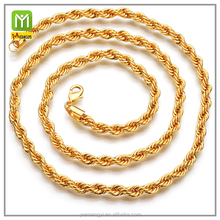 new design fashion jewelry 24k gold heavy rope a models set Necklace chain