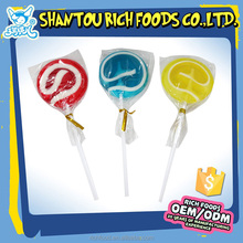 Magic colorful fruit pop candy swirl lollipops